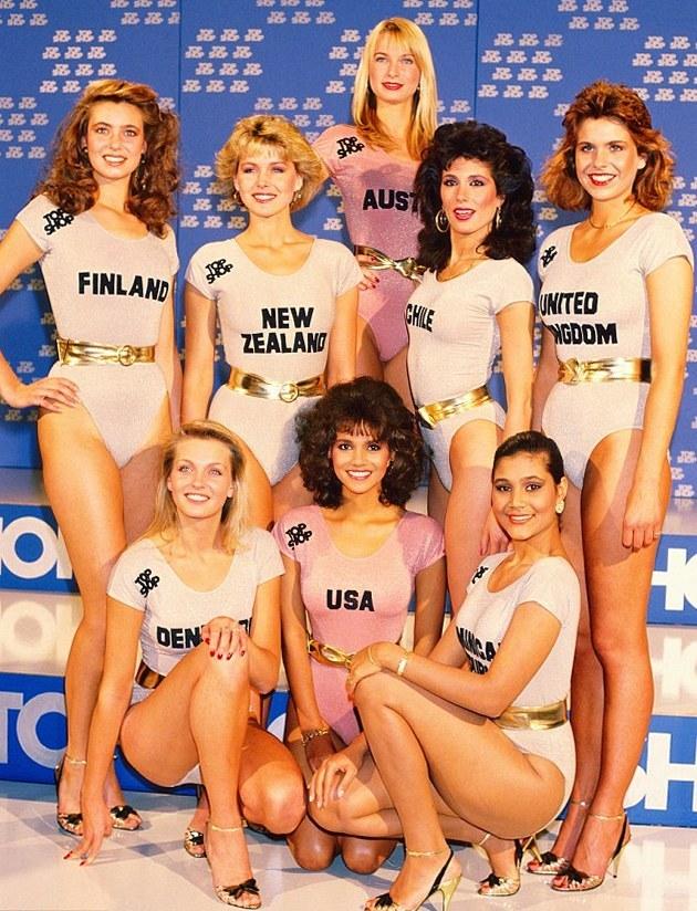 Хэлли Берри на конкурсе Мисс Мира, Лондон, 1986 год