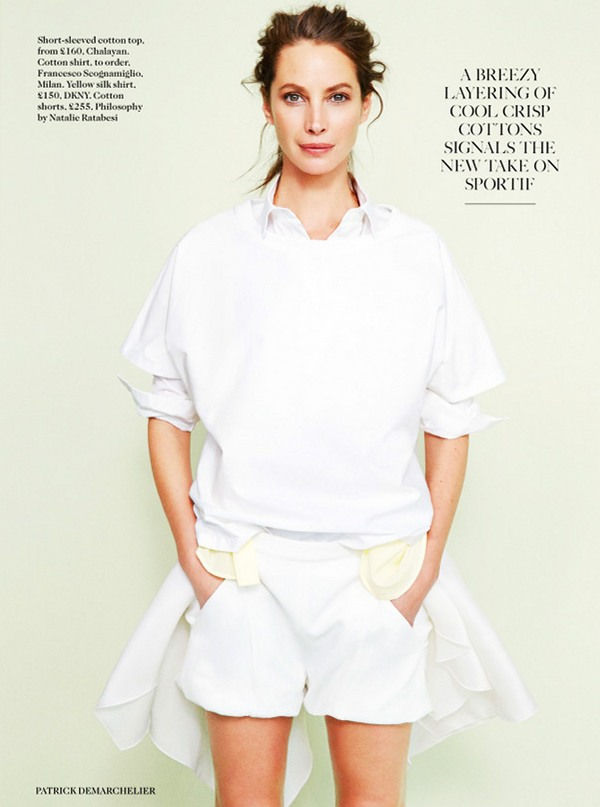 Кристи Тарлингтон для Vogue UK, апрель 2014
