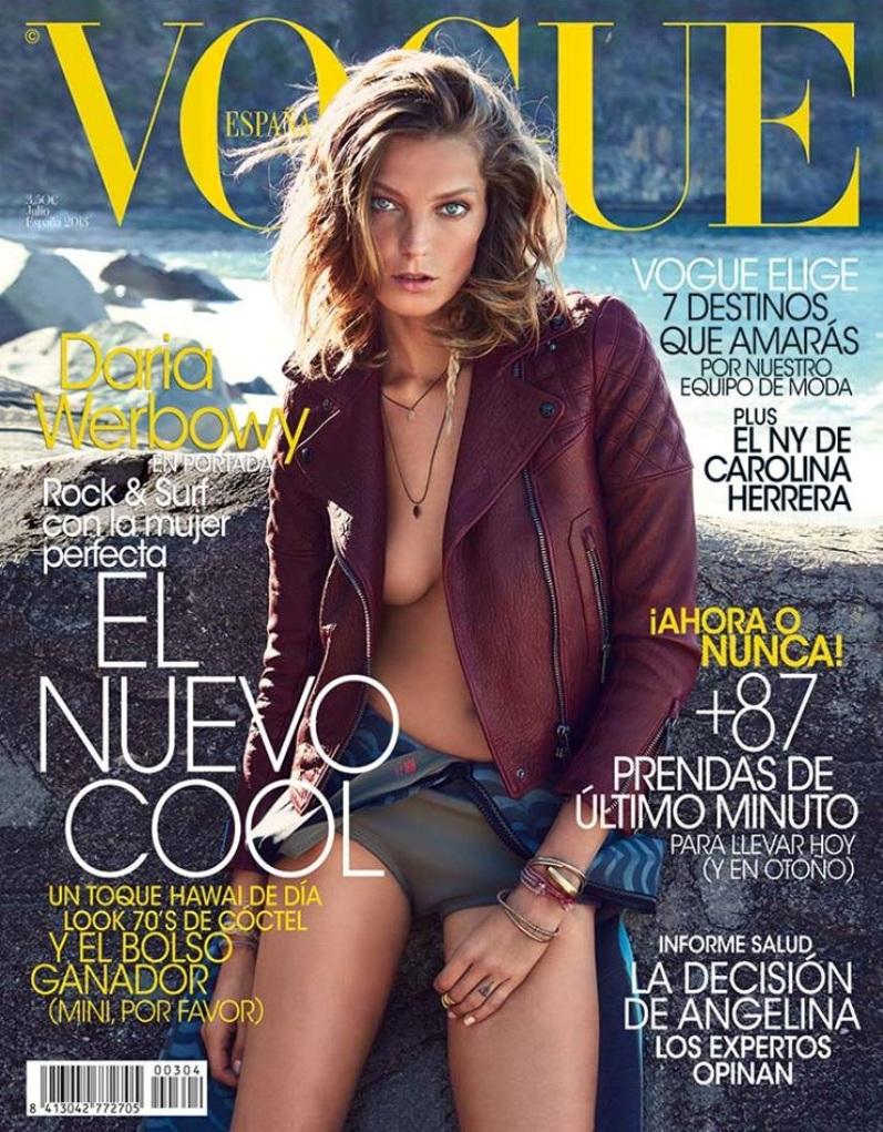 Дарья Вербова в июльском номере журнала VOGUE SPAIN