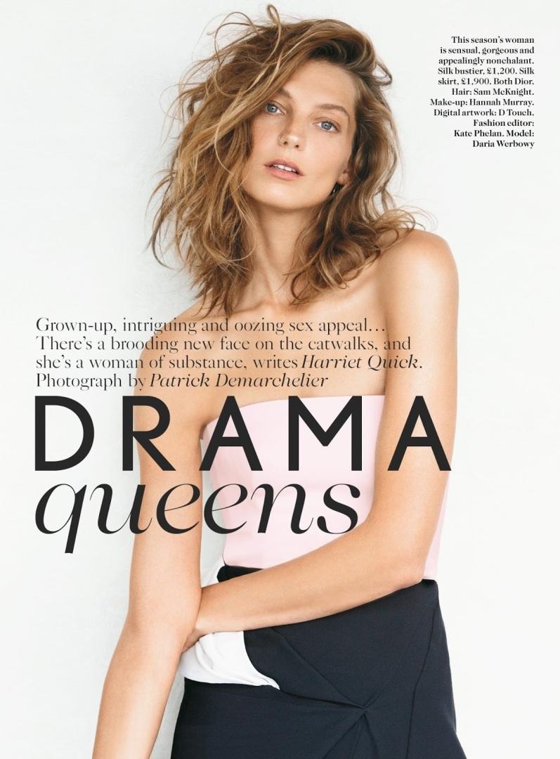 Дарья Вербова для журнала VOGUE UK, сентябрь 2013
