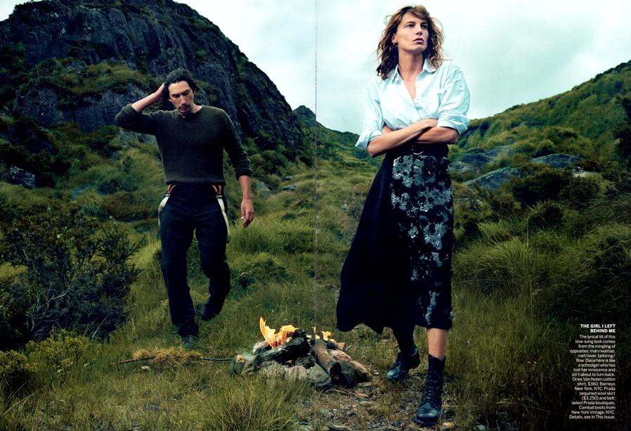 Дарья Вербова для журнала Vogue US, сентябрь 2013