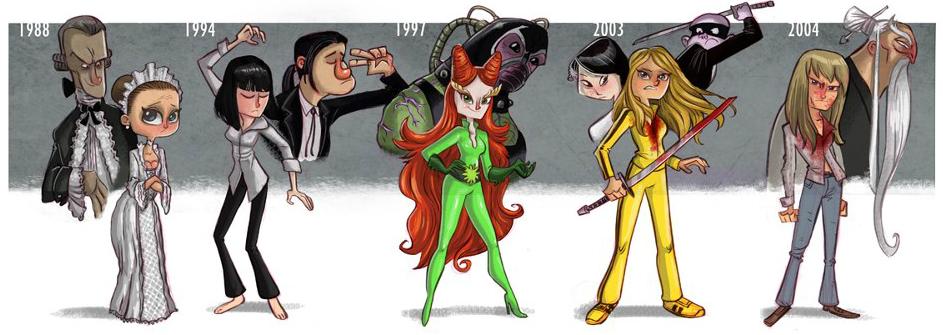 Эволюция персонажей Умы Турман