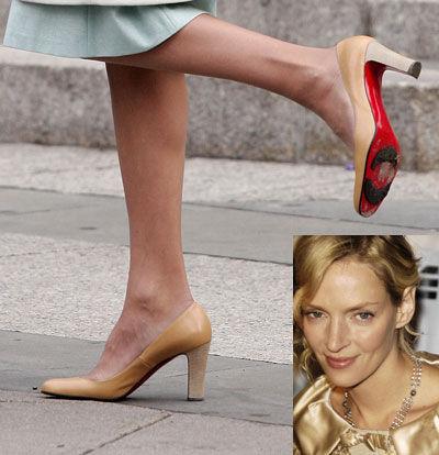 Звездная обувь Умы Турман