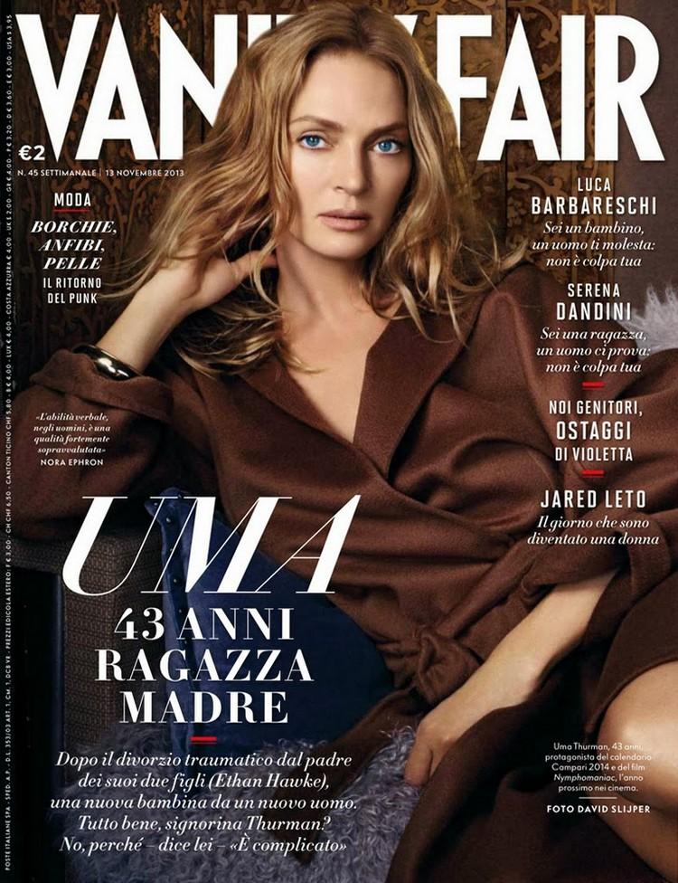 Ума Турман для Vanity Fair Italy, ноябрь 2013