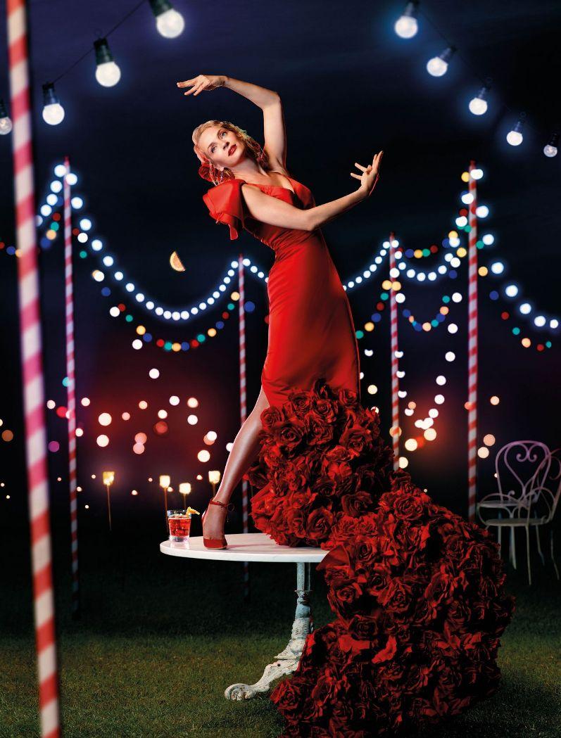 Ума Турман в фотосессии для Campari Calendar 2014