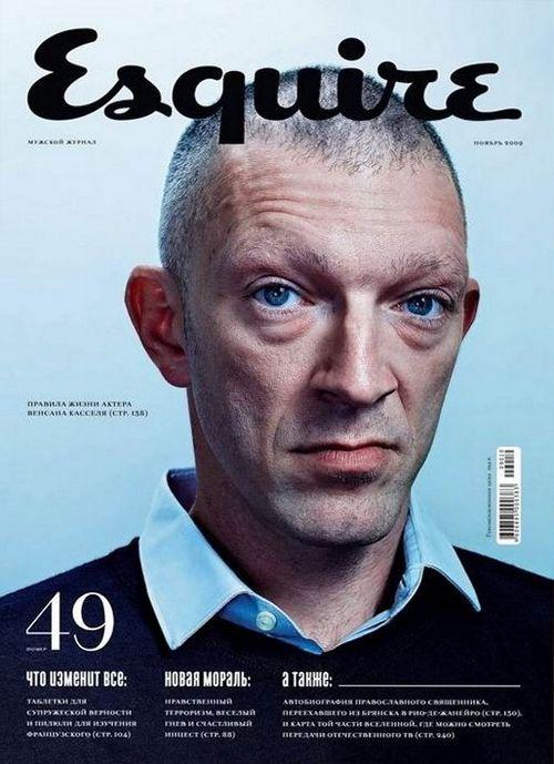 Венсан Кассель на обложках журналов