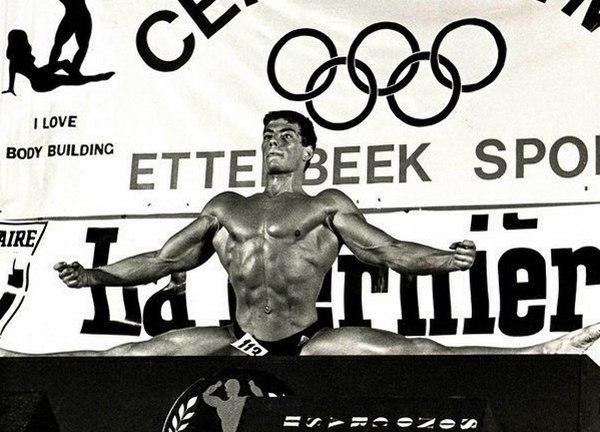 Жан-Клод Ван Дамм на любительском чемпионате Европы по бодибилдингу, 1978 год