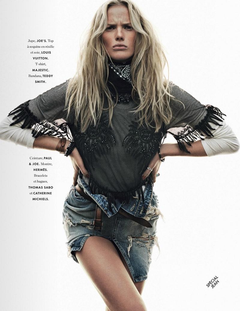 Анна Вьялицына в фотосессии Яна Уолтерса для Elle France, март 2014