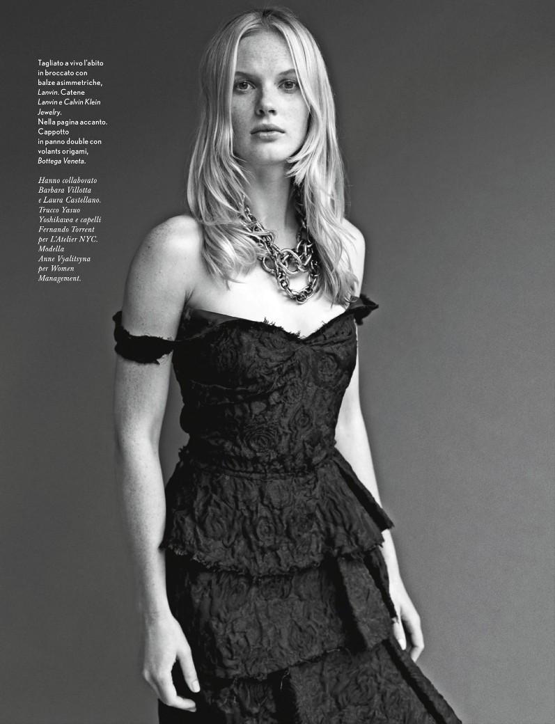 Анна Вьялицына для журнала Amica Italy, сентябрь 2013
