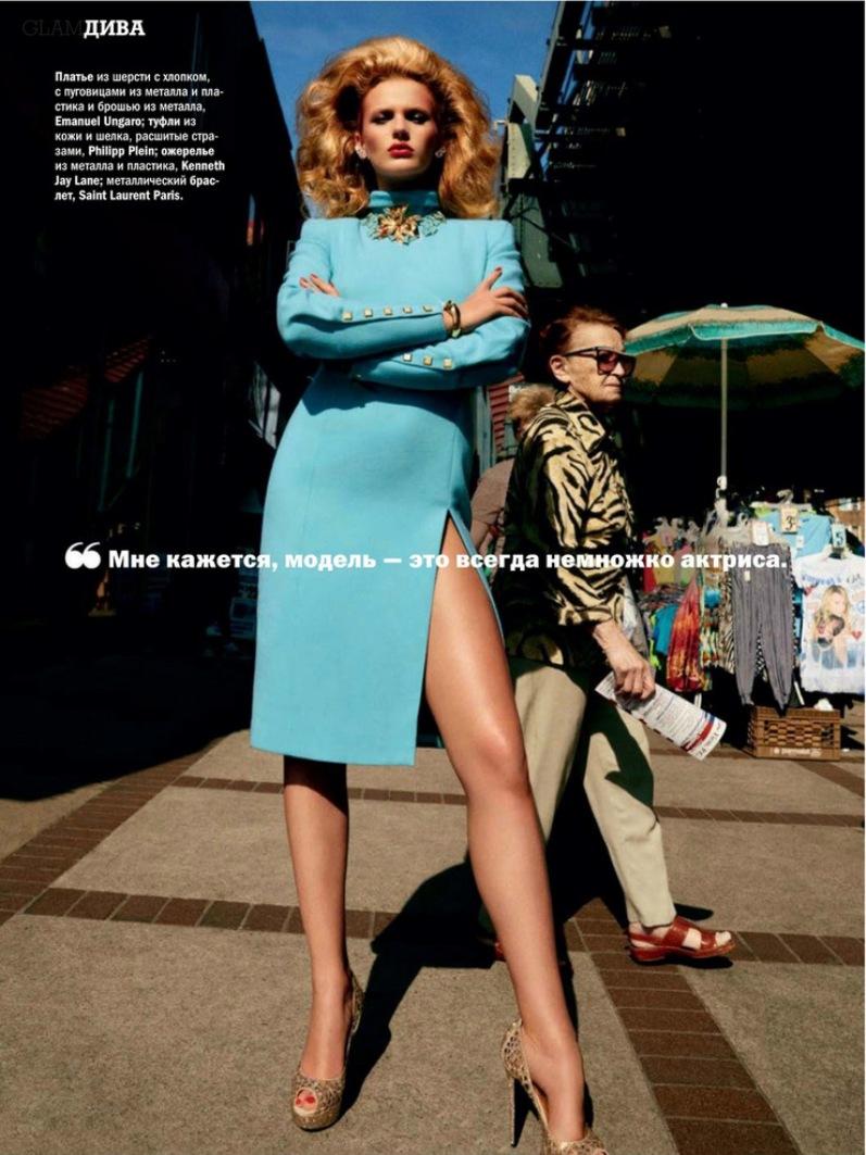 Анна Вьялицына в фотосессии Дэвида Роэмера для журнала GLAMOUR RU, сентябрь 2013