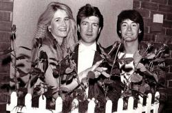 """Лора Дерн, Дэвид Линч и Кайл Маклахлен на съемках фильма """"Синий бархат"""", 1986 год"""