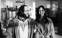 """Стэнли Кубрик и Шелли Дювалл на съемках фильма """"Сияние"""", 1979 год"""
