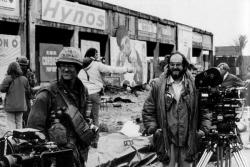 """Мэттью Модайн и Стэнли Кубрик на съемках фильма """"Цельнометаллическая оболочка"""", 1986 год"""
