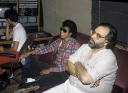 """Майкл Джексон и Френсис Форд Коппола в процессе создания фильма """"Капитан Ио"""", 1986 год"""