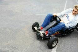 Курт Кобейн на картинге, 1993 год