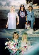 Дэйв Грол с Куртом Кобейном и Кортни Лав в день их свадьбы на Гавайях, 1992 год