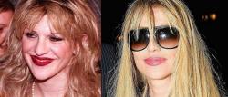 Кортни Лав в 1995 году и 2007 году