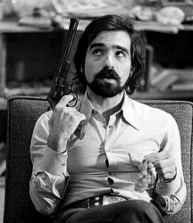 """Мартин Скорсезе на сьемках фильма """"Таксист"""", 1975 год"""