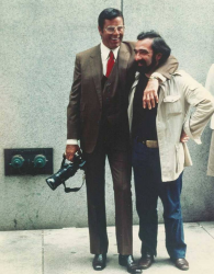 """Джерри Льюис и Мартин Скорсезе на съемках фильма """"Король комедии"""", 1982 год"""