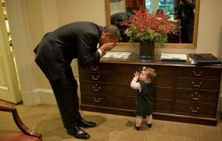 Барак Обама и дети