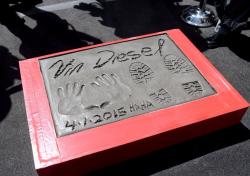 Отпечатки Вина Дизеля в Голливуде