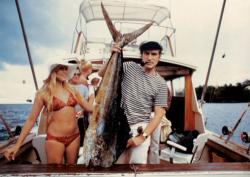 Хью Хефнер и Барби Бентон в Майами, 1970 год