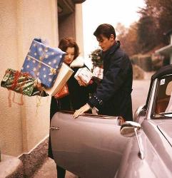 Ален Делон и Роми Шнайдер, 1959 год