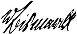 Автограф Отто фон Бисмарка