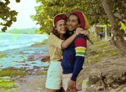 Боб Марли и Синди Брэйкспир.  Ямайка. 1976 год