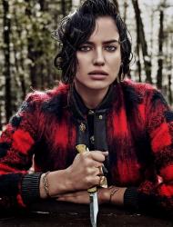 Ирина Шейк для Vogue Spain, декабрь 2013