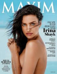 Ирина Шейк в фотосессии Рассела Джеймса для журнала Maxim, июль\август 2014