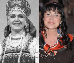 Надежда Бабкинав 1992 году и 2009 году