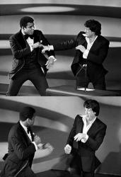 """Мухаммед Али и Сильвестр Сталлоне на вручении премии """"Оскар"""", 1977 год"""