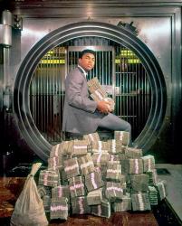 Мухаммед Али со своими деньгами, 1974 год