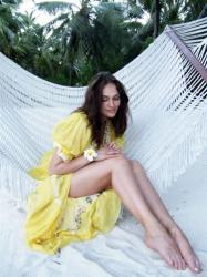 Алена Водонаева на Мальдивах