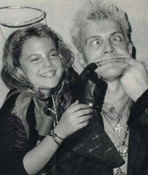 Дрю Берримор и Билли Айдол, 1985 год
