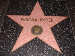 Звезда Вайноны Райдер на Голливудской Аллее славы