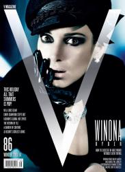Вайнона Райдер в фотосессии Марио Тестино для журнала V #86, зима 2013-2014
