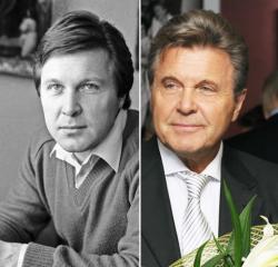 Лев Лещенко в 1980 году и 2009 году