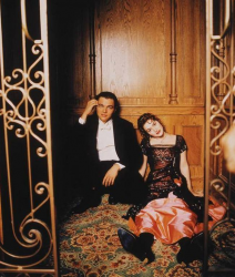 "Леонардо ДиКаприо и Кейт Уинслет на съемках ""Титаника"", 1996 год"