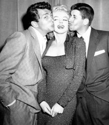Дин Мартин, Мэрилин Монро и Джерри Льюис, 1955 год