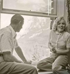 Джо Ди Маджо и Мэрилин Монро в отеле Banff в Канаде, 1953 год