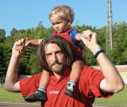 Никита Джигурда с сыном Миком-Анжелем Кристи