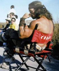 "Арнольд Шварценеггер на съемках фильма ""Конан-варвар"", 1981 год"