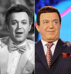 Иосиф Кобзон 1980 году и 2009 году
