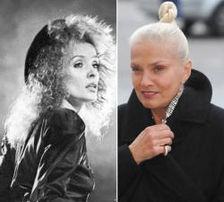 Лайма Вайкуле в 1988 году и в 2009 году