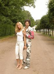 Эксклюзивные фото Авраама Руссо с  женой Морелой