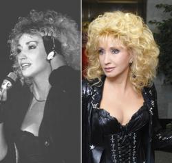 Ирина Аллегрова в 1990 году и 2009 году