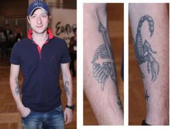 Татуировки Евгения Плющенко