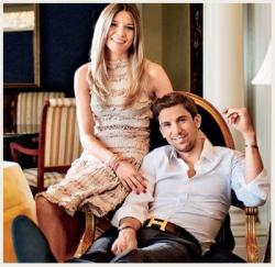 Дарио Срна с женой Мирелой